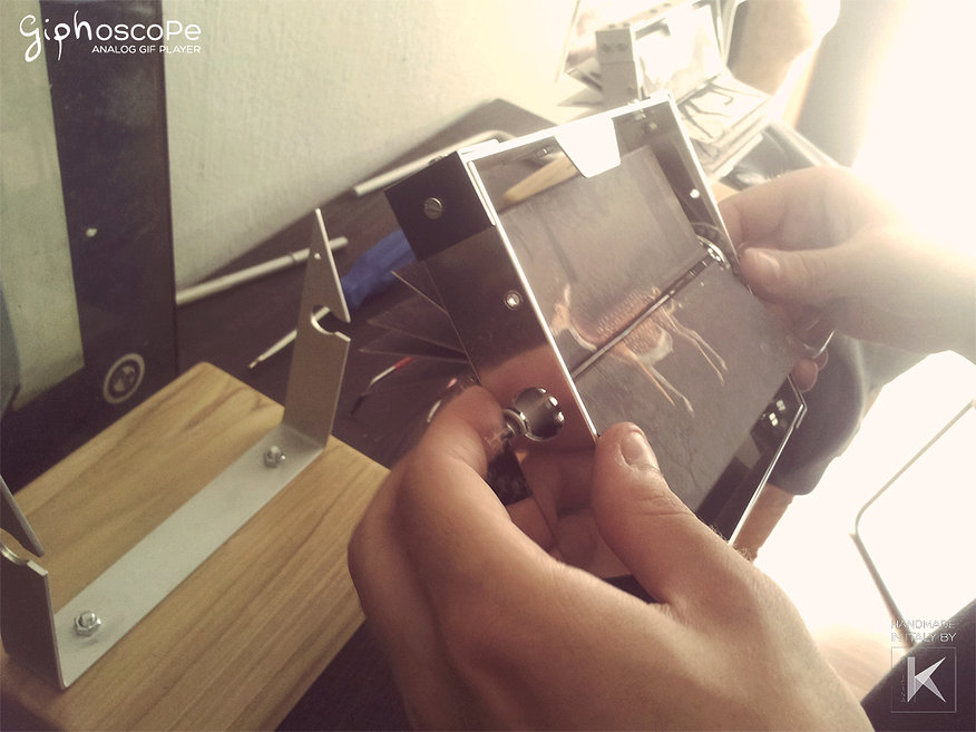 手作りアナログGIFプレーヤー「Giphoscope」