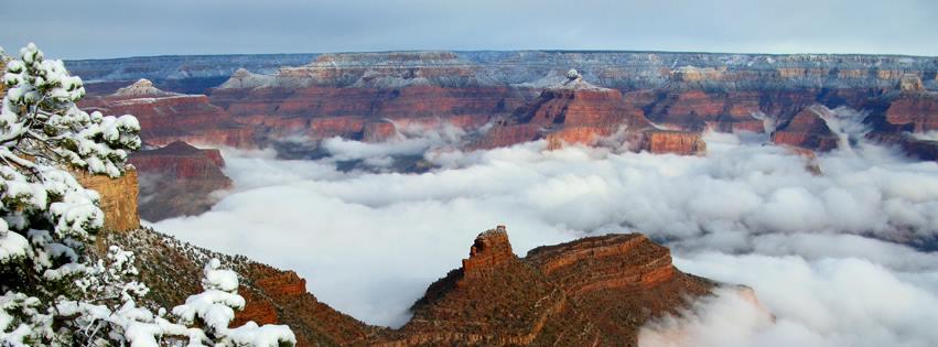 息をのむほどの絶景!10年に1度と言われる気象現象がグランドキャニオンを飾る!
