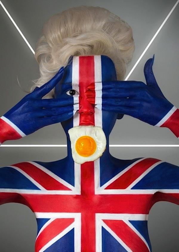 国旗と食べ物を組み合わせた斬新なアート!!