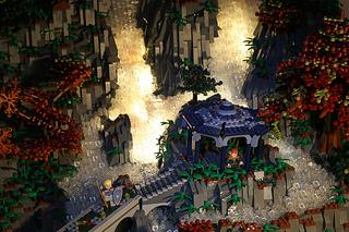LEGOで作るロード・オブ・ザ・リングに出てくる裂け谷!!