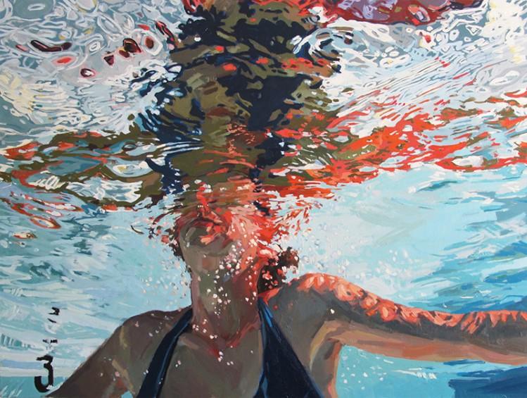 [Todays Art] 油絵での見事な水中肖像!!