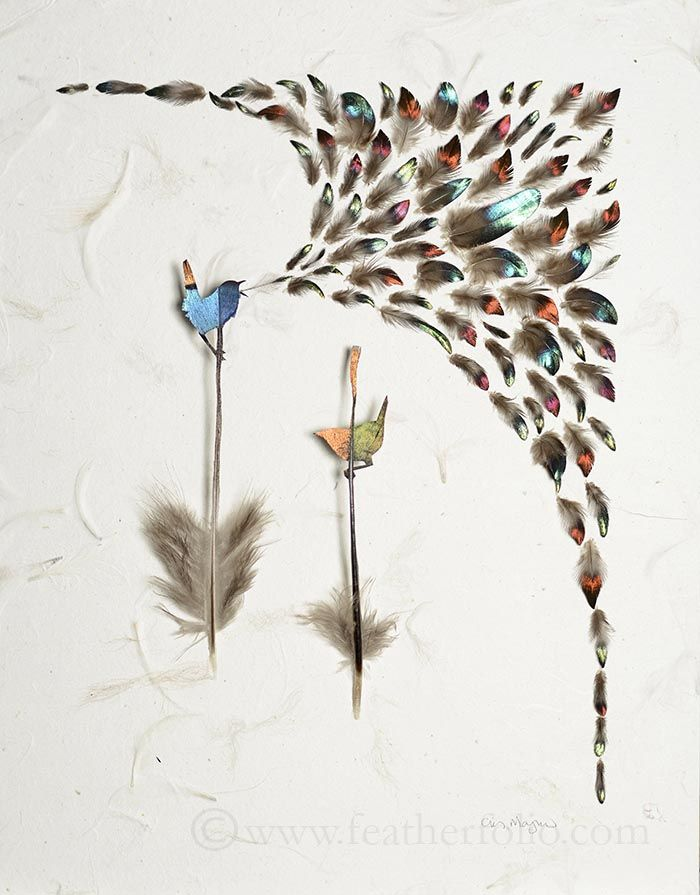 [Today Art] 羽から作り出す小さな小さな鳥!!