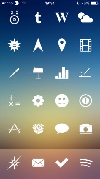 iPhoneのおすすめアイコン!!iOS7の人気アイコンテーマ30種!!(要脱獄)