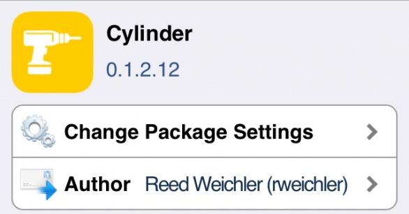 Cylinder ページスワイプ時のアイコンにモーションを付けるTweak!!