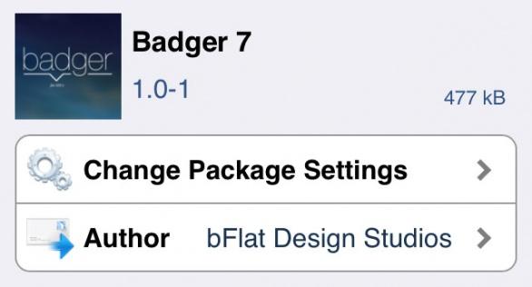 Badger 7 ホーム画面のアイコンを上にスワイプするだけで簡単に内容を確認できるTweak!!