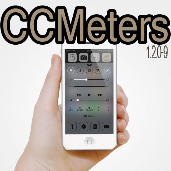 CCMeters 通知センターやコントロールセンターにシステム情報を表示してくれるTweak!!