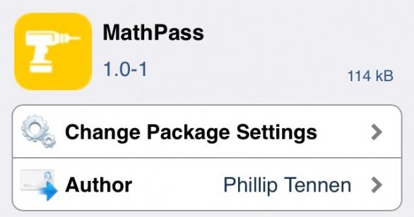 MathPass パスコード入力を掛け算の問題に変えてしまうTweak!!