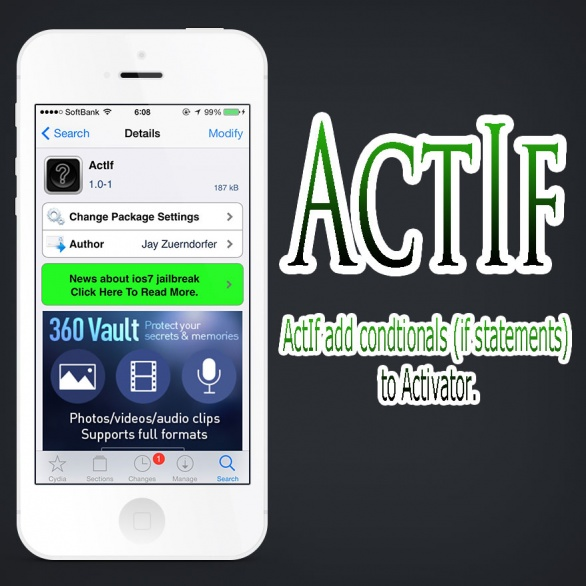 ActIf Activatorに追加条件を足し更に細かく設定できるTweak!!