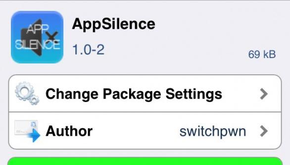 AppSilence アプリごとに音量のオン・オフを設定できるTweak!!