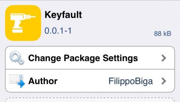 Keyfault キーボードのスタートに絵文字を表示させないTweak!!