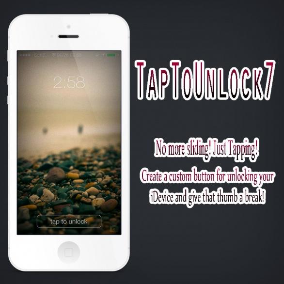 TapToUnlock7 スライドロック解除からタップでロック解除に変えることができるTweak!!