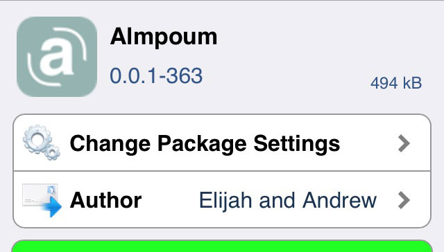 Almpoum スクリーンショットを拡張!!撮った後に保存するかクリップボードにコピーしておくか選択できるTweak!!