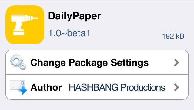 DailyPaper 日替わりで壁紙を変えてくれる飽きさせないTweak!!