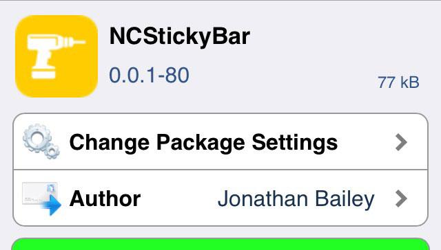 NCStickyBar 前画面表示にでもステータスバーを確認できるTweak!!