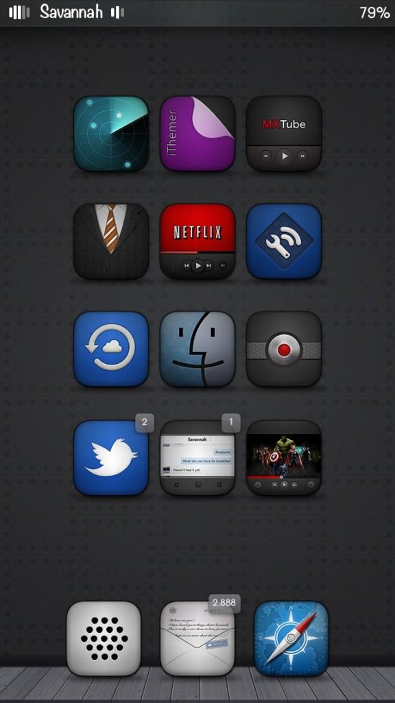 [Theme] iPhone新作テーマ7種!! 0x5iD3 RE Colours, ACE W Theme, Hexagon, Kalos, Saunia, Savannah, Woodster
