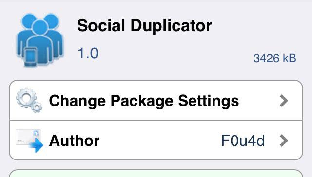 Social Duplicator 様々なソーシャルアプリを簡単に複製することができるTweak!!