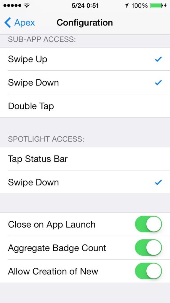 APEX 2 (iOS7) 待望のアイコン整理に便利なTweakが登場!!
