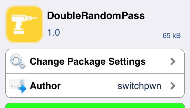 DoubleRandomPass パスコード入力を2回入力させ、2回目はランダムでも解除できるTweak!!