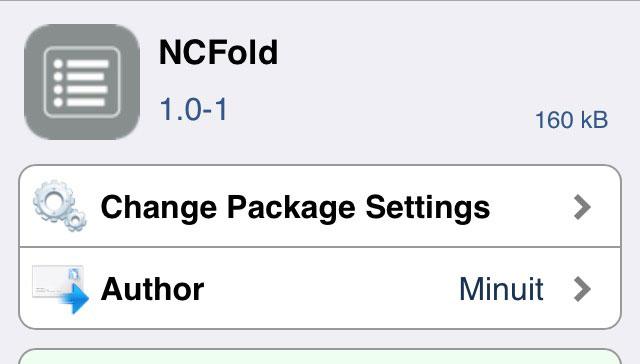 NCFold 通知センターの通知を折りたたみ式にして見やすく整理できるTweak!!