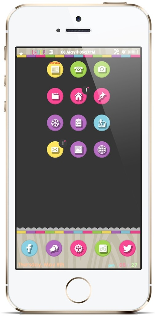 [Theme] iPhone新作テーマ7種!! estelle for iOS・AXC・SoftCons for iOS 7・Color Splash・pixlOS・Comic7