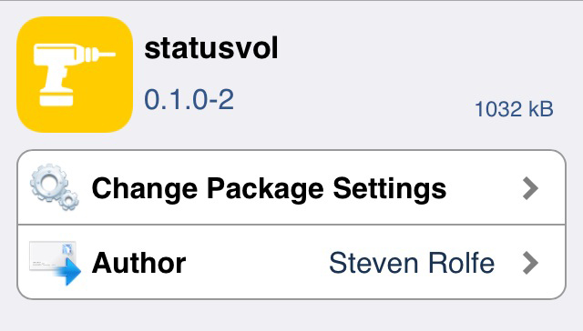 statusvol 新リポに移動!!ボリューム調整画面をステータスバーに表示!!