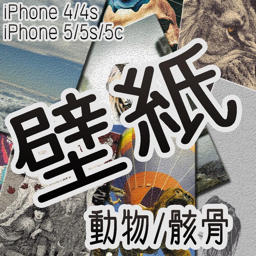 [wallpaper] iPhone用壁紙10枚 2014/07/25 (動物/骸骨)