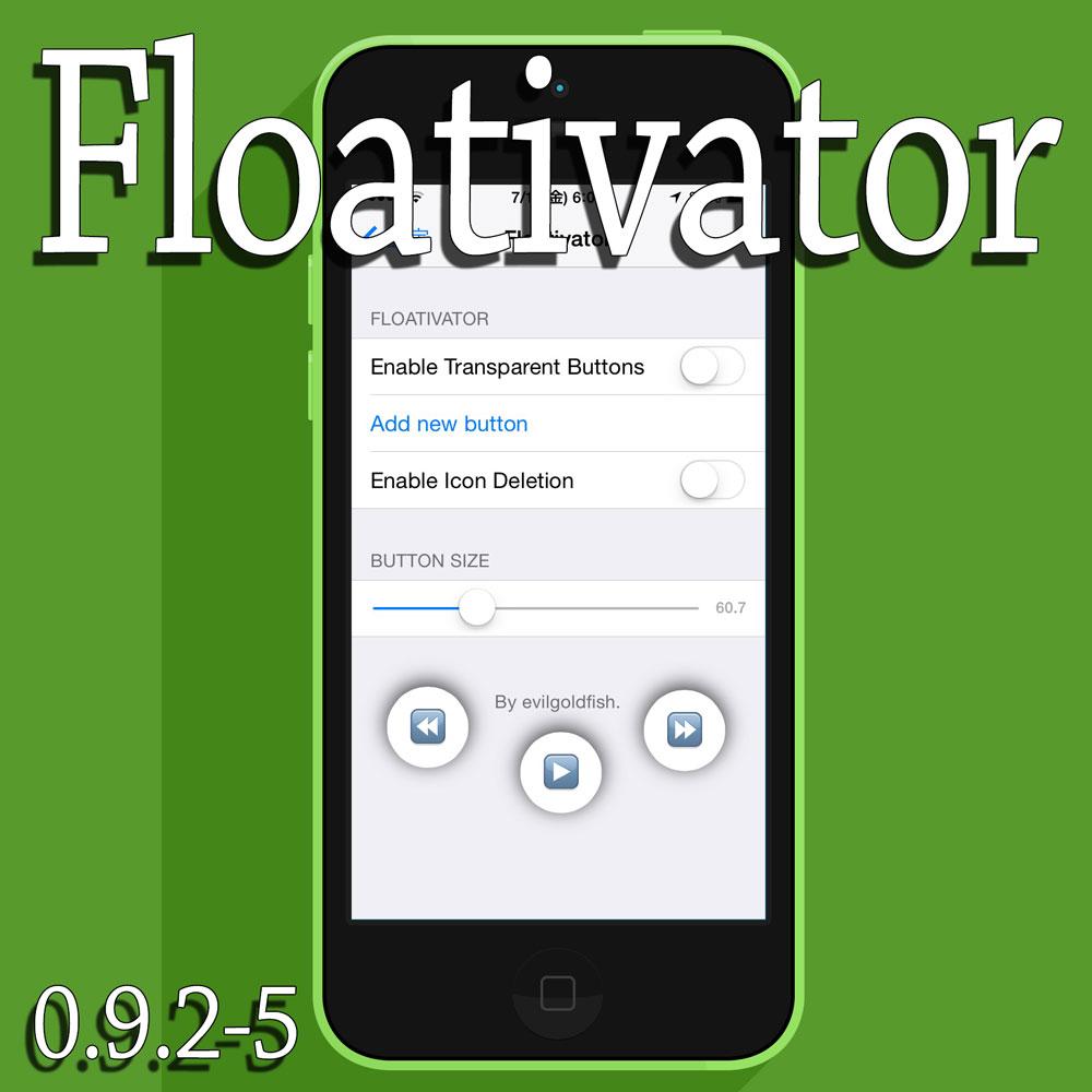 Floativator ボタンを好きな場所に配置してActivatorと連携させ自在にアクション!!