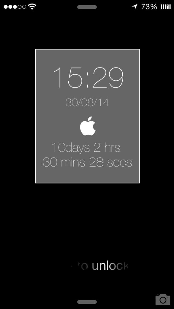 [JBapp] Apple Event Countdown   Lockscreen Widget アップルスペシャルイベント用のカウントダウンウィジェット