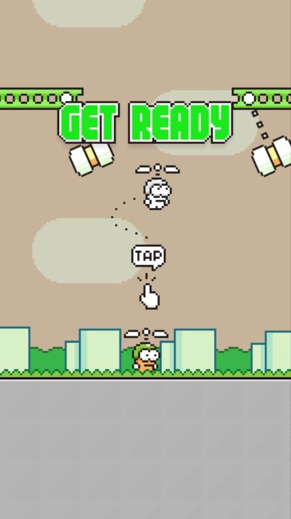 [iOSアプリ] Swing Copters 難しすぎるあのゲームFlappy Bird作者の新作がデビュー!!