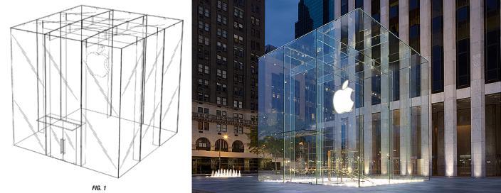 Appleがマンハッタン、アヴェニューに設置したAppleのガラスキューブの特許を取得