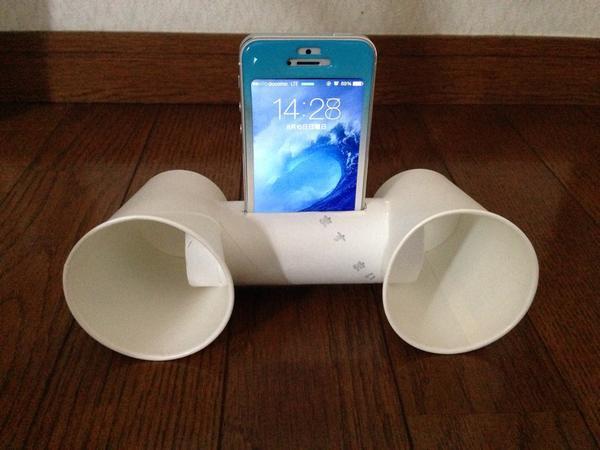 制作費用0円!!工作で作ったiPhone用スピーカーが予想以上に良音!!