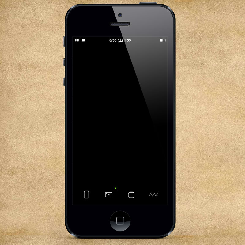 [Setup] iPhoneデザインセットアップ5   BLACK STYLE