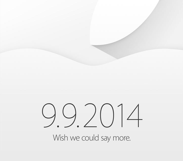 Appleが9月9日にスペシャルイベントを開催すると発表!!キャッチフレーズは「Wish we could say more.」