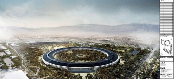 現在建設中のAppleキャンパスをドローンを使って空中から撮影している動画がYoutubeにあげられる