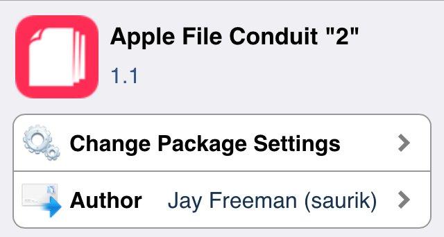 Apple File Conduit 2 がバージョン1.1にアップデート!!これでiOS 8でもファイルシステム内部を確認できるぞ!!