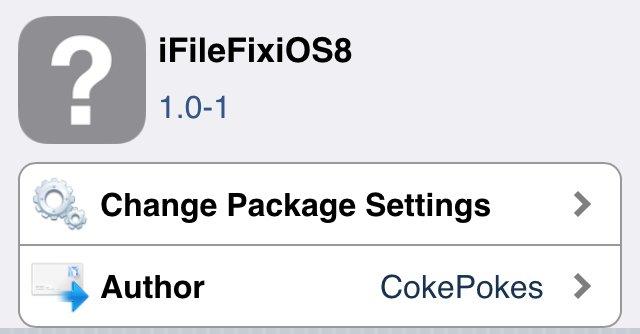 iFileFixiOS8 クラッシュするiFileを修正するTweak!!アップデートまではこれで使えるようにしておこう。
