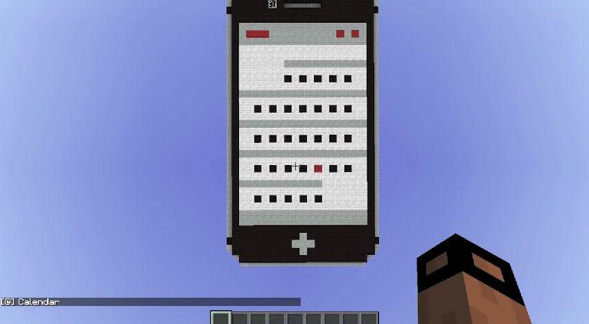 [Minecraft]マインクラフトの世界で細かなところまで再現されたiPhone