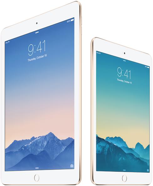 iPad Air 2は499ドル、iPad mini 3は399ドルで販売スタート!!