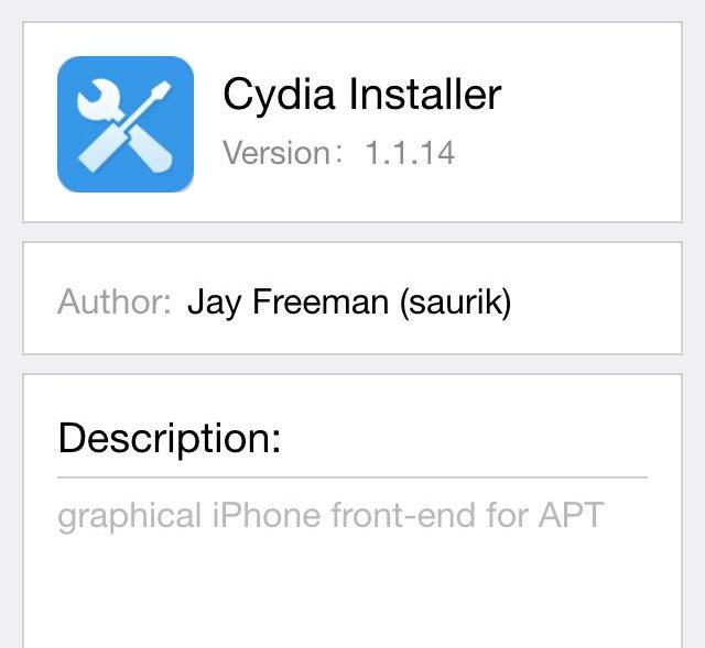 はやくもPanguにInstall Cydiaの表記が。PanguからCydiaをインストールできるようにアップデート