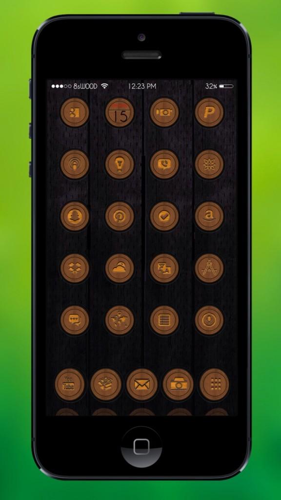 [Theme] iOS 8対応 新作テーマ10種!! 8st W00D,Amber,M8TIF,他7種(Winterboard)