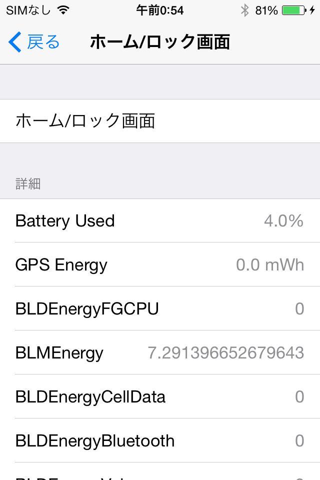 DetailedBatteryUsage バッテリーの使用状況をさらに細かく分析できるTweak