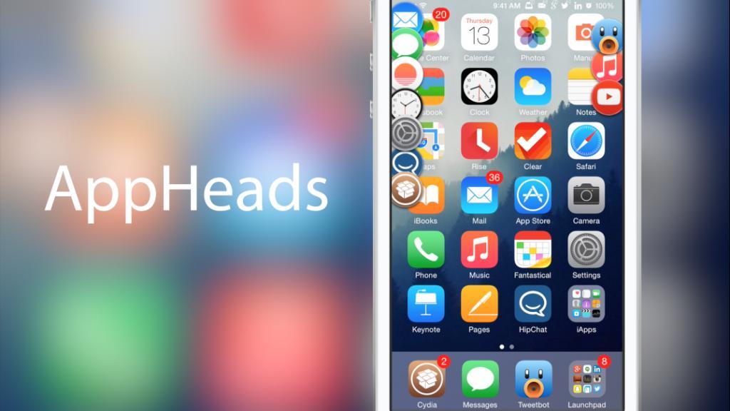 AppHeads マルチタスクを新たなアイデアで表示するTweakがまもなく公開!