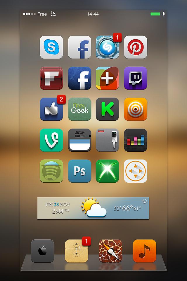 [Theme] iOS 8対応 新作テーマ19種!! 0dyssey 8,Ace Air,Azura,他16種(Winterboard)