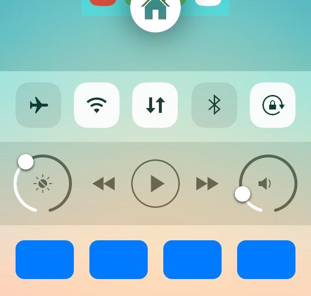 Auxo 3でおこる青いトグルのバグやロック画面でのコントロールセンターが表示されないバグについて