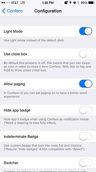 Confero:通知を管理するとても使いやすい脱獄アプリ [Jailbreak tweak]